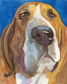 Basset Hound Dog RJK painting
