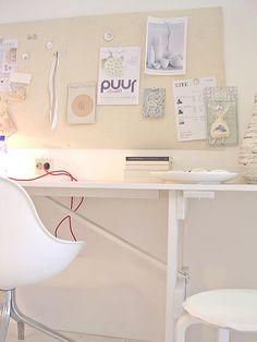 white work space