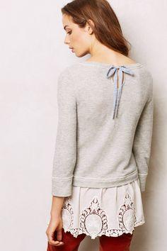 Lace Skirt Sweatshirt
