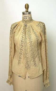 The Romanian blouse at @Karen Jacot Jacot Bitterman Museum of Art, New York  Date: 1800–1945  Culture: Romanian   Credit Line: Gift of Art Worker's Club, 1945 #Romania