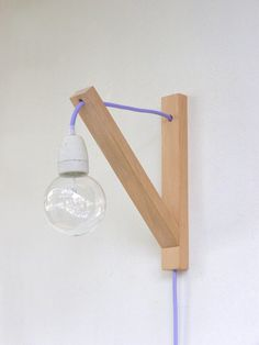 Wall lamp minimalist wall sconce minimal simplicity by TassoStudio, $53.00, possible idea for narrow stair area