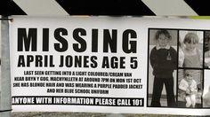 #MissingChild!  April Jones, 5 years old  (Wales, UK)