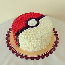 Image result for Pokemon red & white cake
