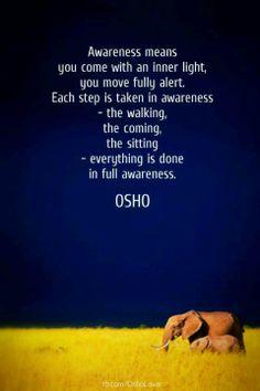 awareness.....