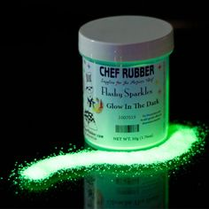Flashy Sparkles Glow in the Dark 50g/1.8 oz. - Just plain fun to come up with ways to use these. Halloween decorations, rim a glass with it, decorate a cake with it, use it during the Las Vegas Glow Run...so many things so little time.