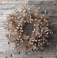 I want a sparkly wreath this year.. Chic Home Design and Decor: Chic Christmas Decorating