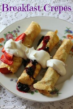 Breakfast Crepes