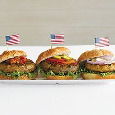 Salmon Burgers| MyRecipes.com #myplate #veggies #protein