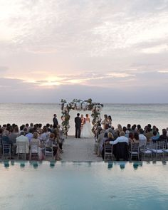 #WeddingWednesday My fiancé and I have dreamed about getting married in the middle of water!  (Romantic, dusky light in Parrot Cay, Turks and Caicos)