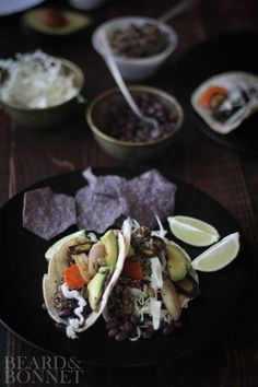 Roasted Carrot, Black Bean, and Quinoa Tacos