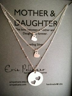 Mother Two Daughters Necklace Set...next Mother's