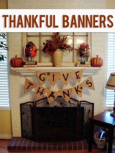 Thankful Banners  #howdoesshe #thankfulbanners #thanksgivingdecor howdoesshe.com