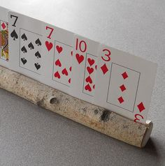 Playing Cards Holder for Children- Natural Wooden Birch-LOVE IT!!
