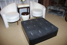 This Serge de Troyer table opens for game play and storage! Look at these chairs! Wow! TheHome.com #hpmkt