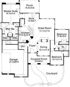 Plan W16803WG: Tuscan, Spanish, Mediterranean, Corner Lot, Southwest House Plans & Home Designs