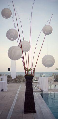 lantern centerpieces, huge centerpiec, centerpiec white, paper lantern, papers, event inspir, lanterns, white lantern, flower
