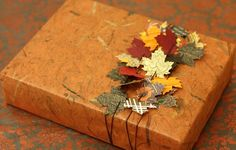 Fall inspired gift wrapping idea #bostonproper