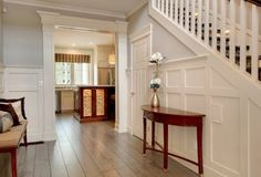 Fresh and clean interior for a craftsman style house.