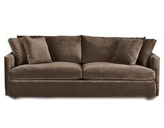 or brown velvet couch #countryliving