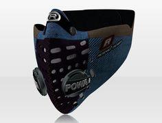 Respro® Skins™ pollution mask - HERRINGBONE Blue #matchyourstyle
