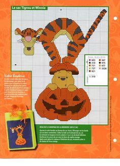 Pooh and tigger at halloween