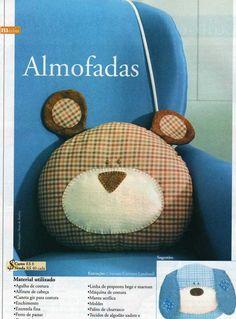 d'incanto: almofada de urso!... tutorial