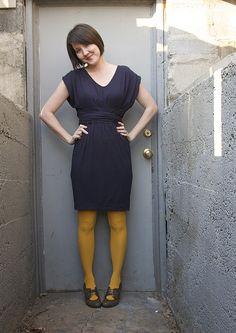 mustard tights.