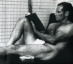 Charlton Heston's hairy chestin'.  That white towel is my spirit animal.