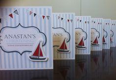 Christening invitation boys, nautical theme, birthday, boy,