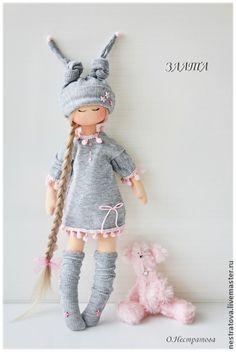 Коллекционные куклы ручной работы. Ярмарка Мастеров - ручная работа Розовые сны Златы. Текстильная кукла.. Handmade.