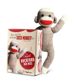 The socks used to make Sock Monkeys are made right here in Iowa. Fox River is based in Osage and knits the iconic 6851 Red Heel® Monkey Sock!