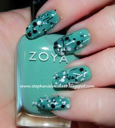 Zoya Wednesday & Black Tie Affair from Nails by Laura