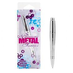 Precious Metal Scribbler Silver, It writes and vibrates.