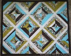String Block Baby Quilt | FaveQuilts.com