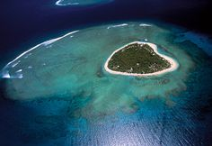 Tavarua - Fiji's Heart Shaped Island! I didn't think it could be real, but it is!!!
