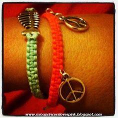 DIY square knot macrame bracelets 1
