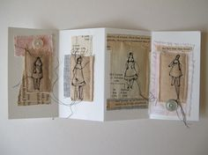 The fact that they lived - mixed media embroidery folding book by cathy cullis http://www.etsy.com/shop/cathycullis