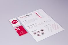 Self Branding, CV/Resume by Teesha Masson, via Behance