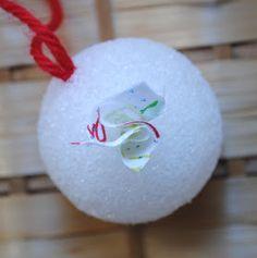 zakka life: Kid Craft: Fabric Scrap Ornaments