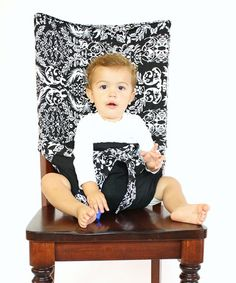 Love this Black Damask Tie Chair by Tie Chair on #zulily! #zulilyfinds