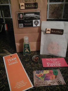 Party Favors from Hunger Games party  #hungergames #partyfavors