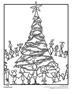 coloring page christmas coloring pages, the grinch who stole christmas