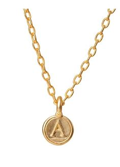 ALPHA GREEK LETTER PENDANT, GOLD BP FINISH
