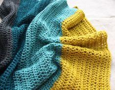 Crochet color block baby blanket inspiration