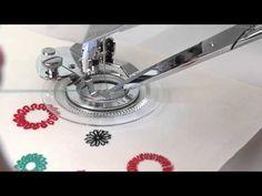 SINGER Flower Stitch Presser Foot Attachment Tutorial - YouTube