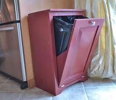 diy tilt out trash can for kitchen