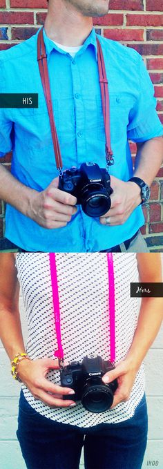 His + Hers DIY: Belted Camera Strap
