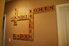 Scrabble Wall Decor