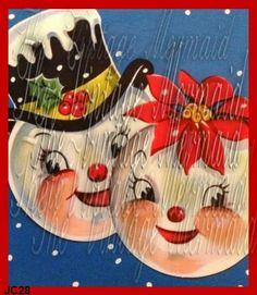 JC28 Snowman Fabric Block Christmas Snowman Quilt by fabricblocks, $10.99