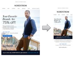 Responsive Email Design from Nordstrom
